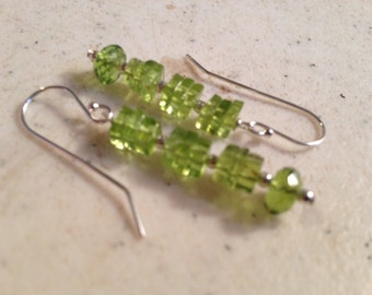 Peridot Earrings - Peridot Jewelry - Green Jewellery - August Birthstone - Gemstone - Sterling Silver