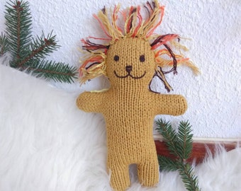 Little lion - hand knitted doll