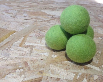 BIG Green Color Natural Merino Wool Felted Ball for Cats