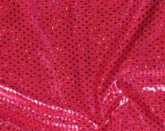 SALE performance fabric ultimate Poly Spandex hot pink sparkle fabric by the yard