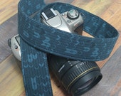 Camera Strap - French Blue Geometric - dSLR Camera Strap - Gift for Photographers