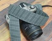 Grey Herringbone - dSLR Camera Strap - Unique Camera Strap for Digital Cameras - Gift for Men - Valentine's Day Gift