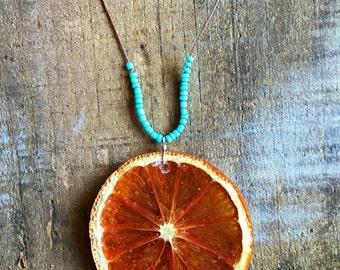 Orange Turquoise Necklace