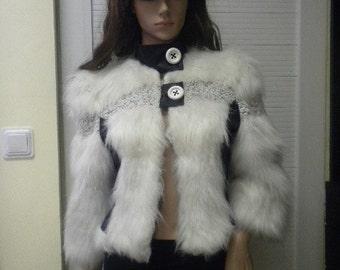 Elegant women's feather jacket