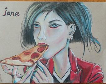 """12"""" x 9"""" Jane Lane Portrait"""