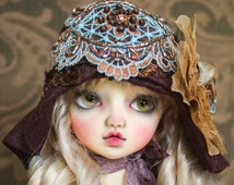 Brown Felt Cloche Hat For Ball Jointed Dolls