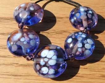 Butterfly - lampwork bead set