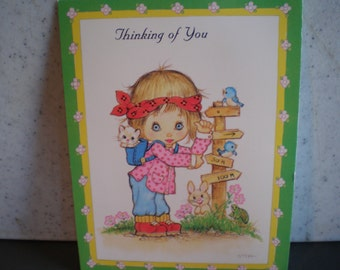 Vintage Unused Greeting Card - Thinking of You
