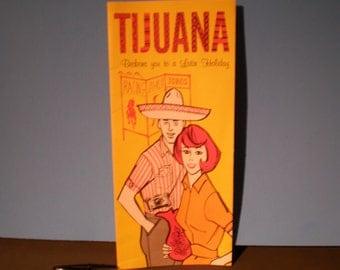 Vintage Mid Century Travel Guide Brochure - Tijuana