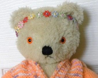 "Vintage Bear - 13"" Mohair Bear - Chad Valley - 1960's Toy - English Teddy"