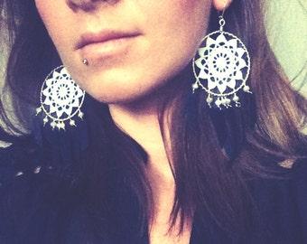 Doily Earrings