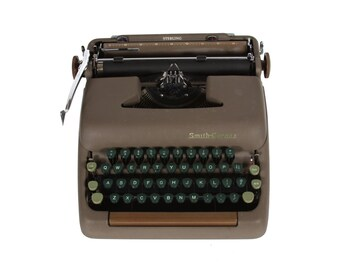 Rejuvenated Smith Corona Sterling Typewriter - Vintage 1960's - Excellent Working Order - FREE Domestic Shipping