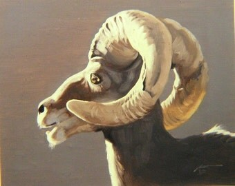 Big Horn Sheep 11 x 17 print (image 10.5 x 13.25) personally signed by artist RUSTY RUST / S-11-P
