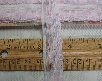 Pale Lavender Flat Lace 5-1/2 Yards