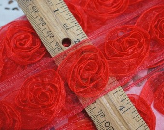 Red Rose Nylon Sewing Trim 3 Yards