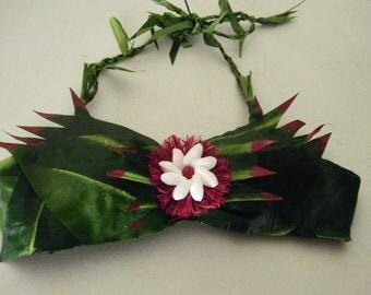 Keiki Silk Ti Leaf Bra-ADJUSTABLE