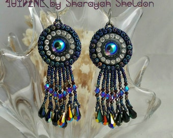 BLING BLING Bead Embroidered Earrings