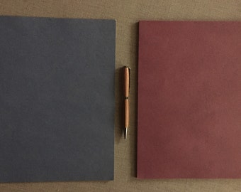 """Sale!  Size 8 1/2"""" x 11"""" Kraft Paper -Full Size Sheets - Hand Tinted Blue or Cranberry"""