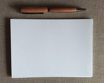 """100 5"""" x 7"""" (12.7cm x 17.78cm) Blank White Cards--Cut Card Stock--Flat Cards--80lb Cover Weight"""