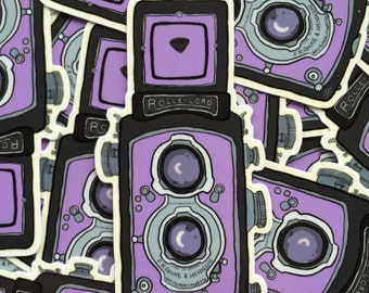 Camera Sticker [Journaling, Stationery, Scrapbooking, Laptop, Car, Notebooks, Decal, Binders, Bullet Journal, Camera Case, Camera]