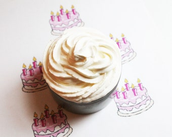 Birthday Cake Whipped Soap - Scented Soap - Homemade Soap - Vegan Soap - Glycerin Soap - Cream Soap