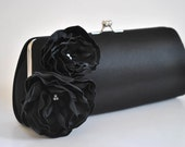 BLACK clutch - Bridal Clutch - Bridesmaid Clutch - Wedding clutch - Large clutch- You choose the color