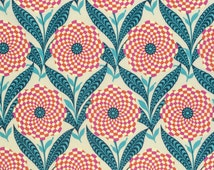 Zebra Bloom in Linen  PWAB161 - ETERNAL SUNSHINE  by Amy Butler - Free Spirit Fabric - By the Yard