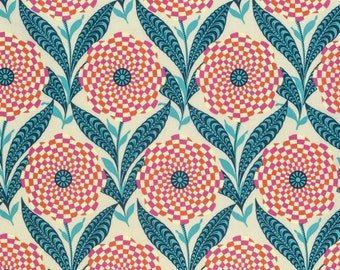 Zebra Bloom in Linen  PWAB161 - ETERNAL SUNSHINE  by Amy Butler - Free Spirit Fabric - By the Yard