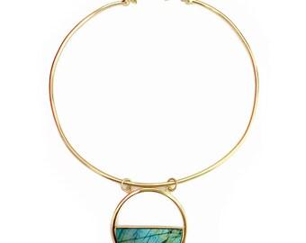 Moon Gazer collar- Labradorite statement necklace, labradorite collar, choker, collar necklace