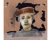 Portrait Young Man original illustration collage mixed media figurative people
