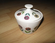 Nasco Fascination Sugar Bowl - Vintage Flower Japan Mid Century Atomic China