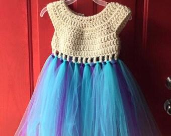 Crochet Tutu Dress 3T-4T Dress