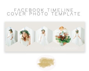 Facebook Timeline Cover Photoshop Template INSTANT DOWNLOAD