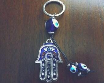Evil Eye Fatima Hand | Hamsa Hand | Keychain