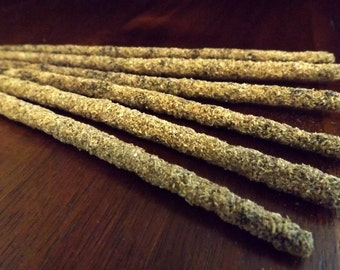 Artisan Incense - PALO SANTO and SAGE, hand made, hand rolled, hand packaged, wiccan, witchcraft, pagan,