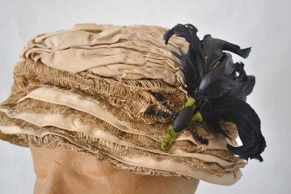 Edwardian Cream Silk Hat