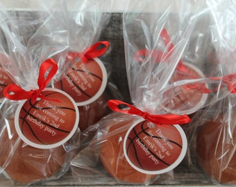 10  Basketball Party Favor Soaps:  Birthday favors, Sport Favors, Wedding Favors, Baby Shower Favors, Baby Sprinkle, Baptism Favors