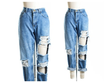 All SIZES  High Waist Destroyed Jeans