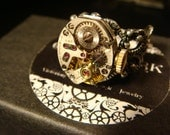 Steampunk Watch Movement Ring with Exposed Gears (2003)