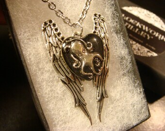 Octopus with Wings Steampunk Inspired  Necklace (2035)