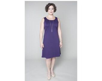A-line Dress Sleeveless Matte Jersey Customizable 4 Lengths Misses & Plus Sizes 2-28