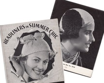 "PDF Instant Download 1930's "" Headliners in Summer Chic"" Crochet Hats Pattern Book!"