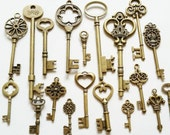 19 Bulk Mix Key Antiqued Bronze B1399(3-2)