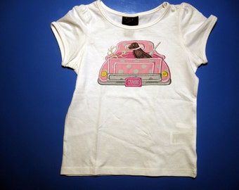 Toddler  or Youth tshirt - Embroidery and appliqued Hunting truck