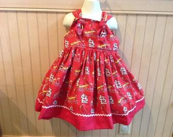 St. Louis Cardinals Baseball Boutique Knot Dress size 2T 3T 4T 5 6