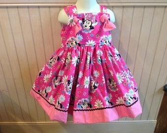 Minnie Mouse Pink Boutique Knot Dress Size 2T 3T 4T 5 6