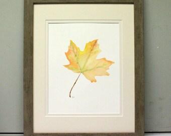 Original Artwork Watercolor Painting Maple Leaf Fall Leaves