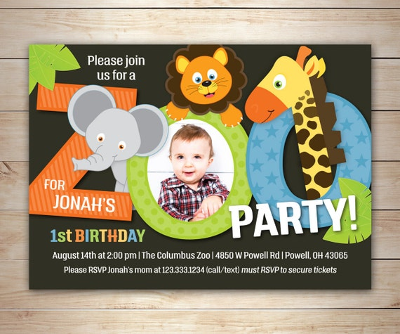 Zoo Birthday Invitation Printable Birthday Invite DIY