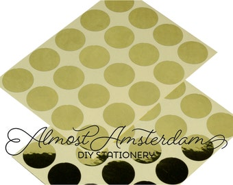 Shiny Gold Stickers/Envelope Seals - 20 mm (approximately 0.79 inches)