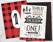 Lumberjack First Birthday...